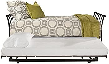 Hillsdale Furniture Midland Backless Daybed w/Trundle Twin Black Sparkle
