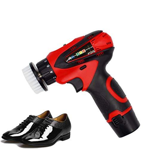 YQ Limpiador de Zapatos de Mano multifunción hogar Cepillo eléctrico para Zapatos Pulidor de Zapatos Máquina de Limpieza de Cuero para lavadoras de Zapatos,Red