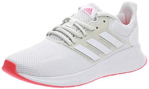 adidas Damen RUNFALCON Sneaker, Ftwbla/Ftwbla/Rossen, 39 1/3 EU