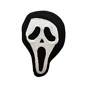 Scream Mask Embroidered Iron on sew on Patch Horror Monster Gifts