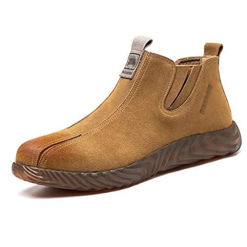 Zapatos de seguridad Mujeres hombres de punta de acero tapa llama soldadores retardantes zapatos de seguridad resistente al desgaste del tendón de la carne de seguridad de la carne de seguridad de la