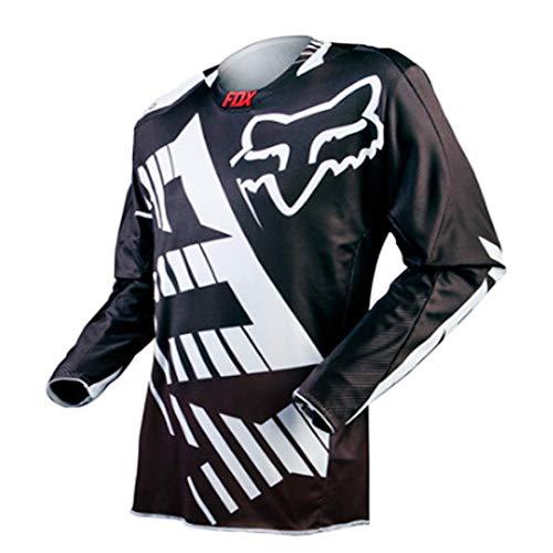 YSYFZ MTB Jersey Outdoor Ciclismo Sportivo Tuta da Equitazione Camicia a Maniche Lunghe Fuoristrada Servizio di Moto a Maniche Lunghe T-Shirt Downhill Tuta Sportiva off-Road Uomo Estate