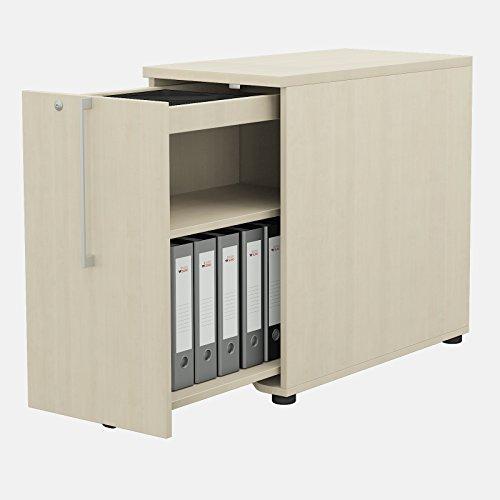 Weber kantoor Nova apothekerskast links in esdoorn 402 x 800 mm, hoge container, container
