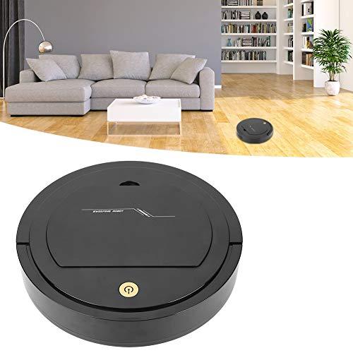 Clasken Aspiradora inteligente con carga USB de bajo ruido, barredora automática para robot para la limpieza de suelos de mármol (negro)