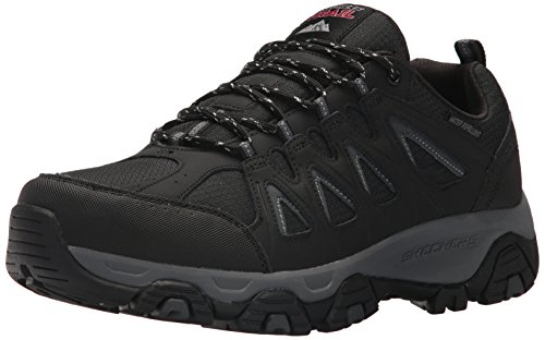 Skechers Men's Terrabite Oxford, Black/Charcoal, 10.5 2E US