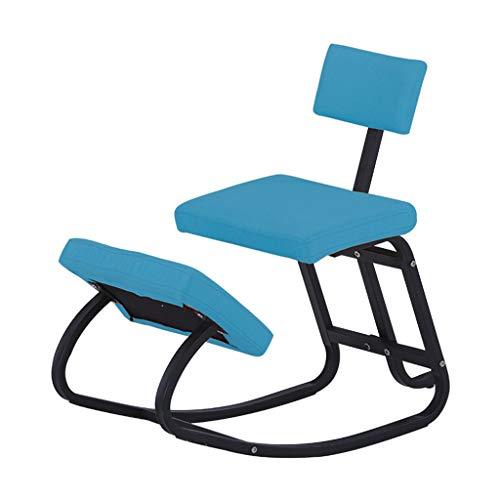 FyuFE Entlasten Rückenschmerzen Children Learning Stuhls Im Nacken Ergonomischer Stuhl Mit Thick Schutz Shock Gemütlich, Schaukelstuhl Sitz Richtige Position Massif Anti-Kurzsichtigkeit,Blau