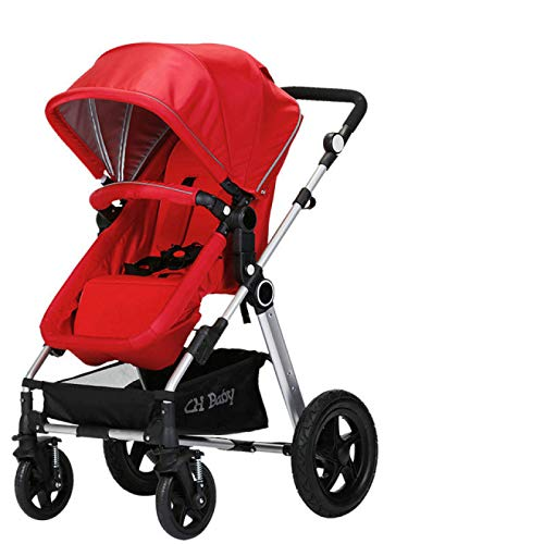 Find Bargain YYZZ Baby Stroller, high View Stroller Folding Stroller with Rubber Wheels Shockproof S...