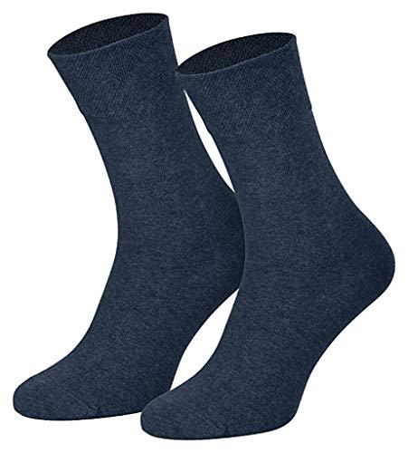 Art-of-Baan 6 Paar Damen Komfort Socken mit extra weichen und breitem B& ohne Gummi aus hochwertiger Baumwolle, Jeans, Größe 39-42