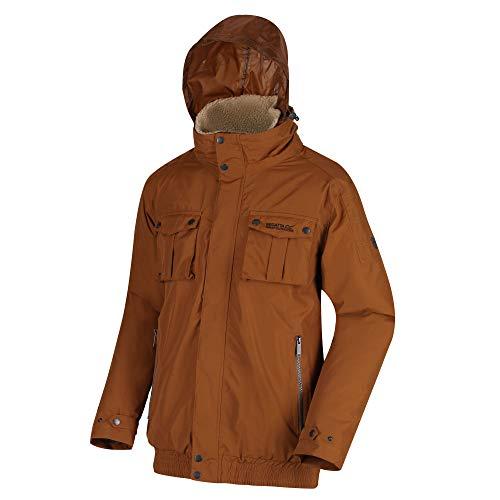 Regatta Veste imperméable et respirante RALSTON avec col épais en polaire Veste à capuche Homme Brown Tan FR : 3XL (Taille Fabricant : XXXL)