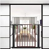 Barrera de Seguridad de Niños para Puertas y Escal Presión Fit Seguridad Puerta de metal Soportes de 76cm de altura El ancho se puede seleccionar de 75 a 196cm puerta for mascotas puerta del bebé con