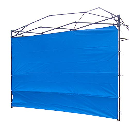 NINAT Side Sunshade Privacy Panel Wall for 3M Gazebos/Canopy Tent Waterproof(Canopy Frame Not Included), Blue
