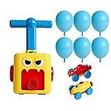 ZXY Niños Inercial Power Balloon Car Science Experiment Toy Puzzle Diversión Inercial Power Car Globo Kid Gift,Amarillo,Yellow