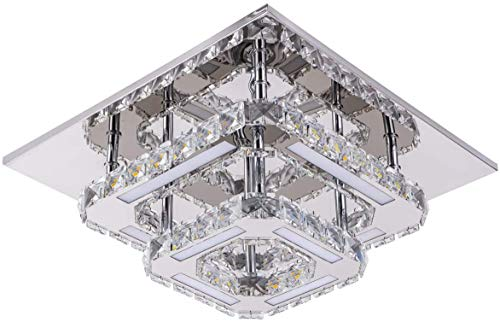 Goeco Deckenleuchte LED, Kristall Deckenleuchte Integriert Moderne Deckenleuchten 36W 6000k für Wohnzimmer Schlafzimmer 30cm