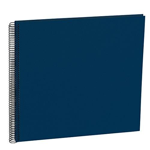 Semikolon (352899) Spiral Album Large marine (blau) - Spiral-Fotoalbum mit 50 Seiten u. Efalin-Einband -Spiralfotobuch mit schwarzem Fotokarton