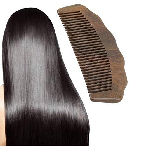 HENGSONG Peigne À Cheveux Pour Démêler - Peigne En Bois À Dents Larges Pour Cheveux Bouclés - Pas De Peigne En Bois De Santal En Bois Naturel Statique Pour Femmes, Hommes