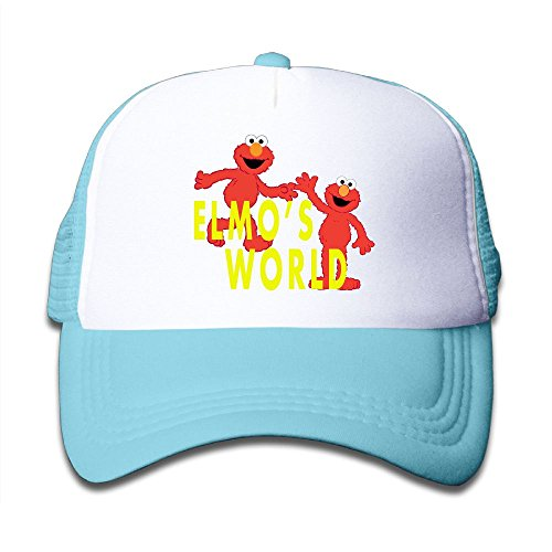 Grace Little Elmo's World Teenager Outdoor Mesh Hat Golfer Snapback Hat Adjustable SkyBlue