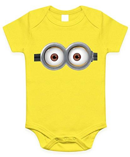 Minion Eyes Infant Baby Onesies / Bodysuit (12-18 months, Yellow two eyes)