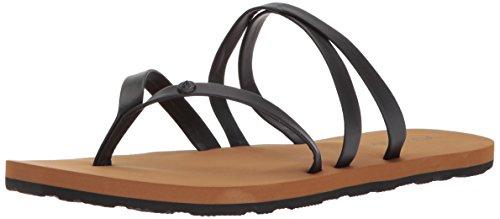 Volcom Damen Easy Breezy Jesus Thong Synthetic Leather Flache Sandale, schwarz, 42 EU