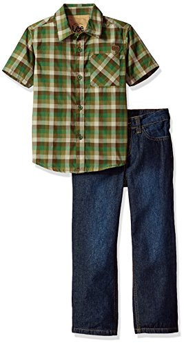 LEE Boys' 2 Piece Short Sleeve Button Up Shirt Set