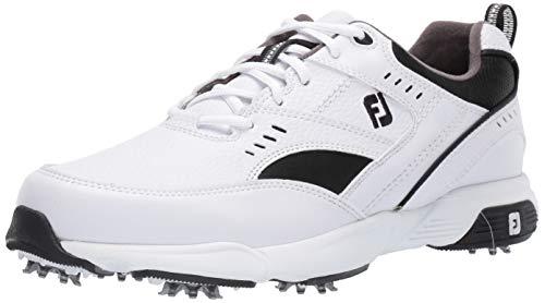 Footjoy Herren Sneaker Golfschuhe, Wei (weiß/schwarz), 48 EU