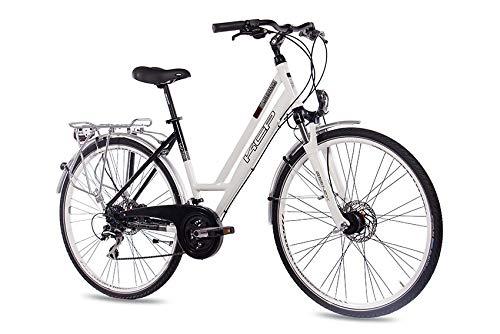 KCP 28 Zoll City Bike - Urbano Lady - Damen Trekkingfahrrad mit 24 Gang Shimano Acera Kettenschaltung, bequemtes Tourenfahrrad für Frauen