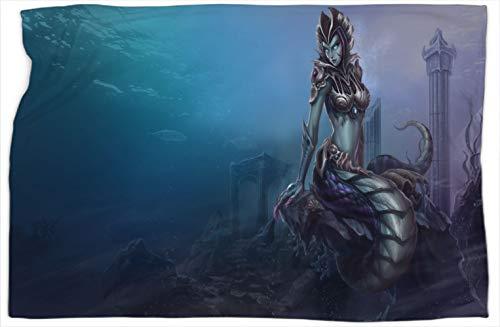 Cassiopeia Siren League Legends - Manta de oficina para mejorar el sueño, cálidas y cómodas mantas de 152 x 203 cm