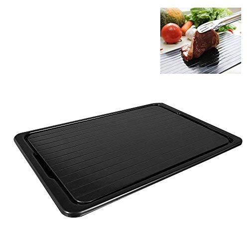 2-in-1 schnelles Auftauen von Fleisch und Schneidebrett, schnelle Sicherheit, Auftauplatte für Tiefkühlkost, Fleisch, Küchenwerkzeug M: 29,5 x 20,5 x 0,2 cm