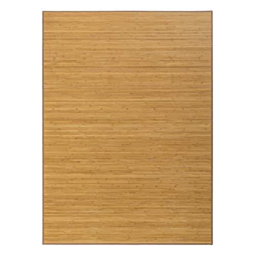 Alfombra de salón de bambú marrón de 250x180 cm - LOLAhome