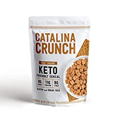 Keto & Low Carb Lifestyle Friendly: Our Honey Graham Keto Cereal contains ZERO Sugar, 11g Plant Protein, 9g Fiber and only 5g Net Carbs per serving. This satisfying treat makes for the perfect breakfast to kick-start your mornings, or mid-day snack t...