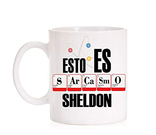 FUNNY CUP Taza Divertida The Big Bang Theory. Esto es Sarcasmo Sheldon (Sarcasmo)
