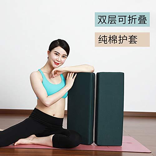 Newgreeny Yoga Schulterständer Pad Yoga Kissen Faltkissen Yoga Handstand Assistive Aid Wildlederkaffee