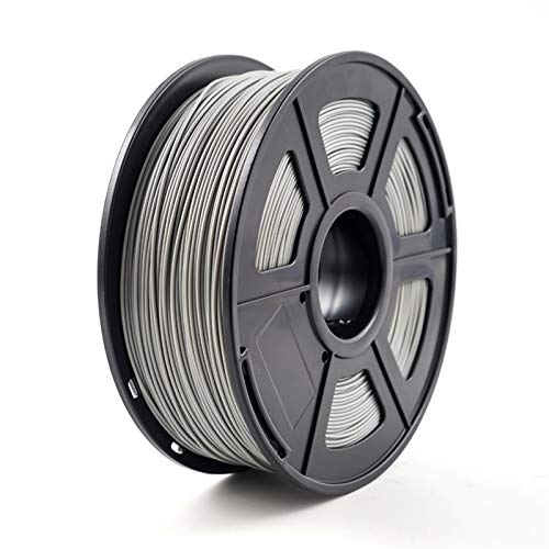 3D Printer Filament, ABS 1.75mm 1kg/2.2lb ABS Plastic Consumables Material for 3D Printer and 3D Pen ABS Filament (Color : Grey)