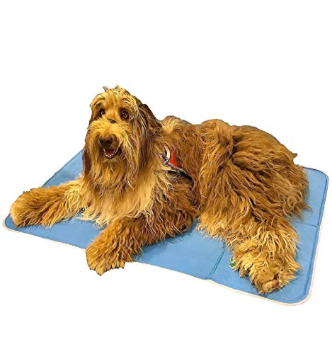 The Green Pet Shop Dog Cooling Mat - Pressure-Activated Gel Cooling Mat For Dogs, Large Size - This Pet Cooling Mat Keeps Dogs and Cats Comfortable All Summer - Ideal for Home and Travel