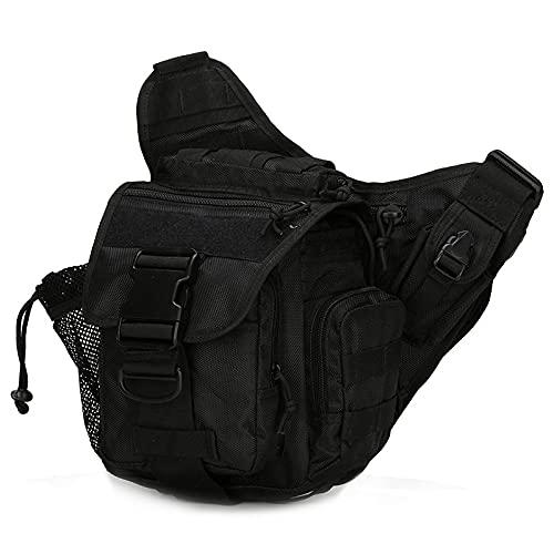 QIANJINGCQ, nueva bolsa de sillín, bolsa de hombro de camuflaje mejorada, bolsa de sillín táctica, bolsa de mensajero, bolsa de cintura salvaje, mochila