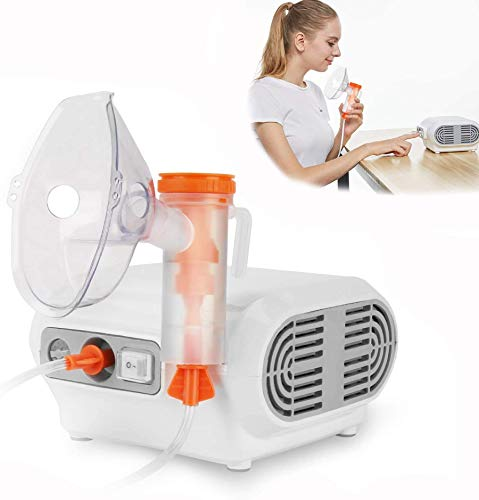 MAYLUCK Portable Compressor Nebulizer, Nebulizer Machine with 1 Set Accessory, Jet Nebulizers Personal Steam Inhaler Cool Mist Compressor System for Kids Adults