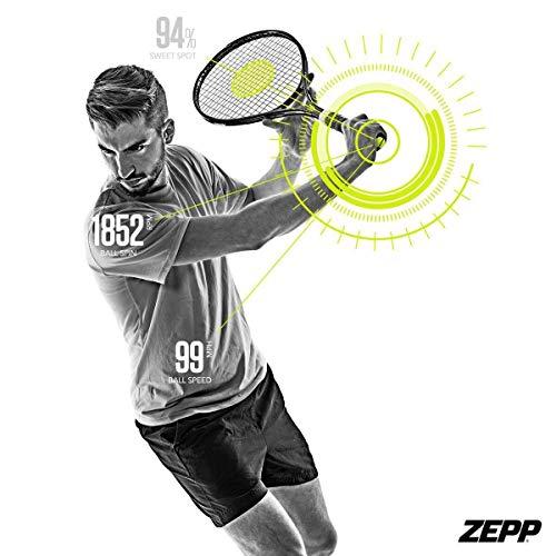 Zepp Tennis 2.0 Swing & Match Analyzer, Tennis Swing Trainingshilfen, Tennistrainingsgeräte für Herren & Damen, Leistungsstärkster Tennis Swing Analyzer, Track Parctice und Match Sttistics.