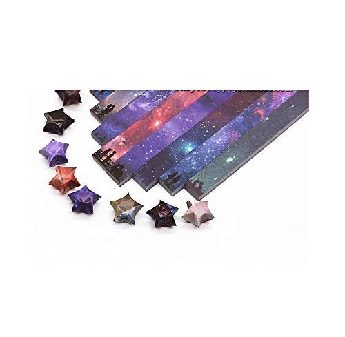 Farbdruck Stern Origami, Glücksstern handgemachtes fünfzackiges Stern gefaltetes Papier, Stern Papier-A10, 540 Blatt