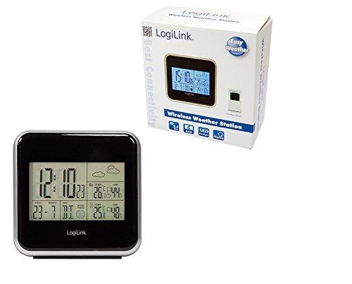 LogiLink WS0001 elektronische Wetterstation, schwarz