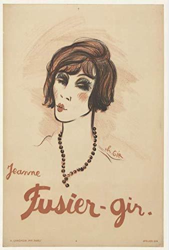 Jeanne Fusier-Gir Affiche Poster Reproduction - Format Size 50X70 cm Papier 300 GR-Vente du fichier numérique HD Possible Nous Consulter (Boutique : affichevintage.FR)