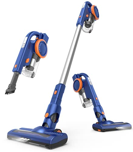 ORFELD Cordless Stick Vacuum Cleaner, Lightweight, Powerful Suction, Rechargeable Battery, 4 in 1 Vacuum Cleaner, Up to 50 Minutes Runtime, with Dual Digital Motor for Deep Clean Whole House, EV679