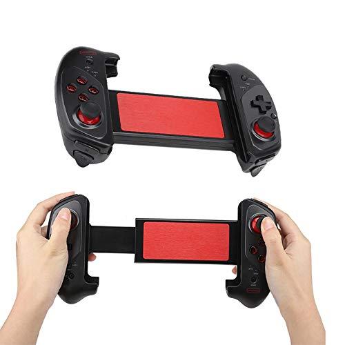 ASHATA Controlador de juegos inalámbrico, Bluetooth, para teléfono móvil, tableta, Smart TV, telescopio Gamepad Gamepad con disparador, compatible con Android e iOS
