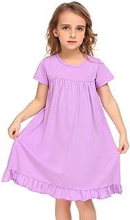 Balasha Girls Short Sleeve Dress A-line Swing Skater Dress