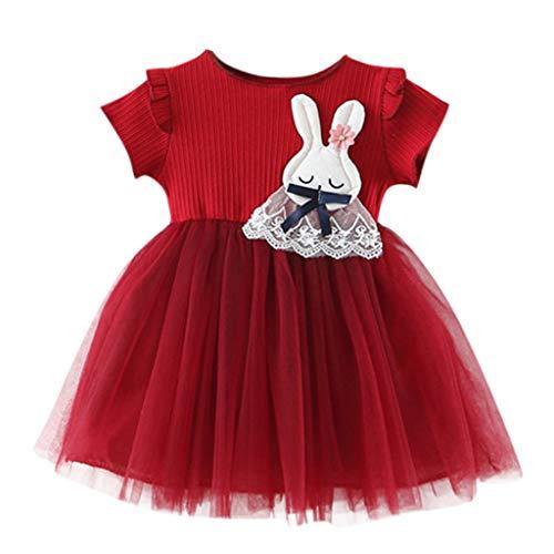 ELECTRI Robe Bebe Fille Ceremonie Ete 2 à 7 Ans Fleurs Plissée Tutu Robes de Soirée Filles Bebes Robe Princesse Fille Fete Anniversaire Bapteme Vetements Bébé Enfant Carnaval
