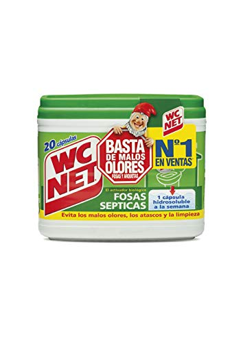 Wc Net Fosa Septica, 20 Capsulas x 18g, Multicolor