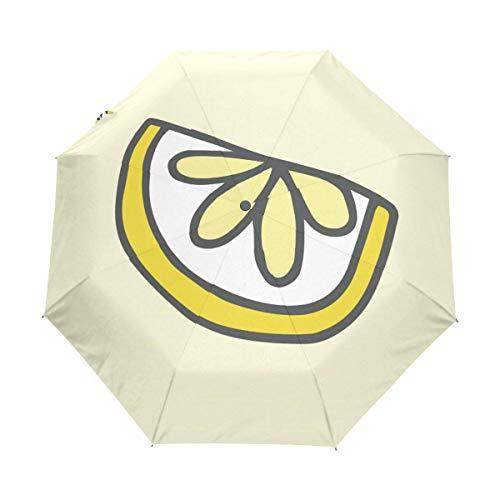 Kompakter Reise-Regenschirm, Melone, automatisches Öffnen und Schließen, winddicht, UV-Schutz