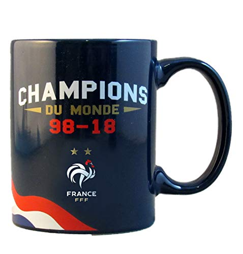 Equipe de FRANCE de football Mug FFF - 2 Etoiles - Champions du Monde - Collection Officielle