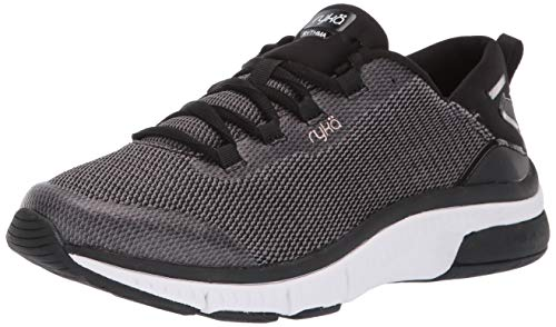 Ryka womens Rythma Walking Shoe, Black, 8.5 US