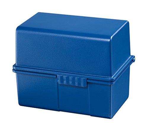 HAN - Tarjetero DIN A8 para100 tarjetas, color azul con clasificador A-Z