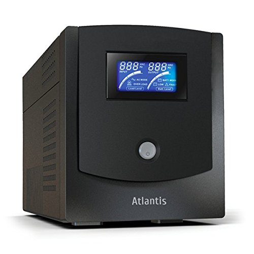 Atlantis A03-HP1102 1100VA UPS, 550W, Host Power Sinewave Line Interactive con AVR Boost e Buck, Software Viewpower Incluso, Nero