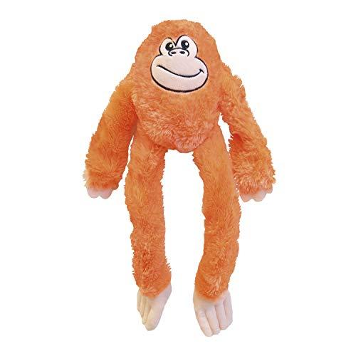 Peluche para Perros Gloria - Tamaño 44 cm - Peluche Kikazaru - Juguete para Perros - Peluche con Sonido - Textura Suave - Material Resistente - Ideal para Perros pequeños - Color Naranja